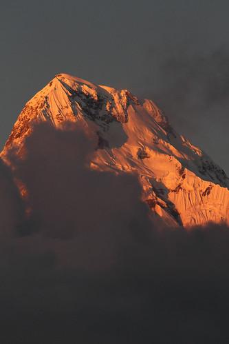 nepal sunset sky mountain snow mountains clouds stunning annapurna mistersteeb stevecannings