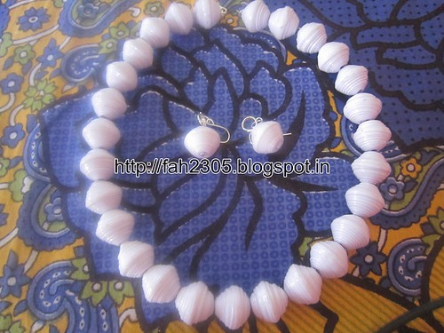 Handmade Jewelry - Round Paper Beads Set (5) by fah2305