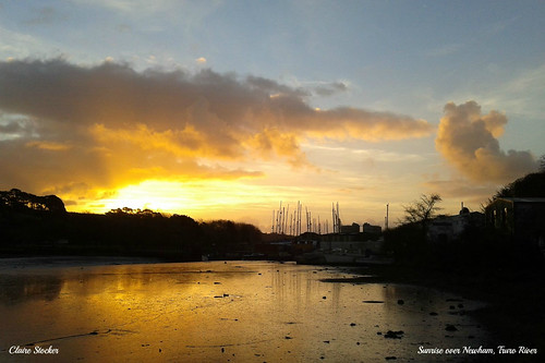 Sunrise over Newham, Truro River by www.stockerimages.blogspot.co.uk