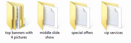 second level of folders