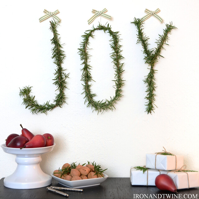DIY Letter Wreath, Monogram Wreath, Rosemary