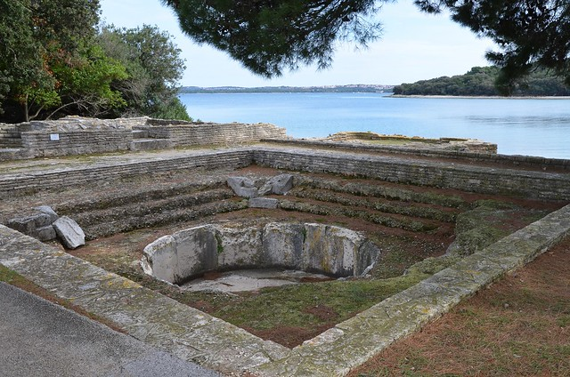 The Thermae, Roman Villa in the Bay of Verige, Brijuni Islands, Croatia