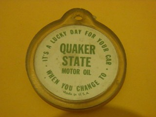 Quaker State oil (4 leaf clover on reverse)