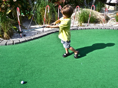 Mini Golf - Putt N Around, South Florida- mini golfer in the making