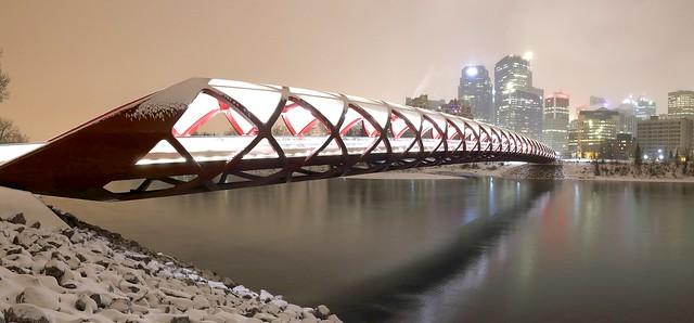 John Andersen (a Calgary Night... - Peace Bridge Panorama Cold