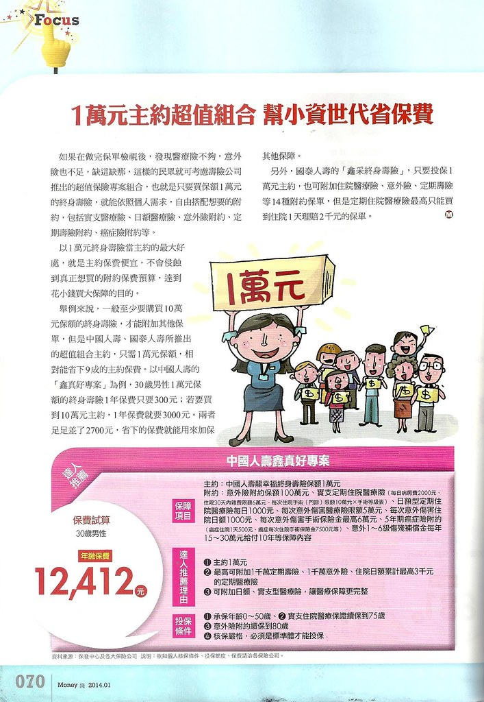 201401[Money錢No.76]2014必Buy保單大公開P.70