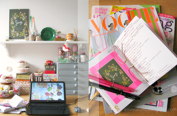 A tidy space to work and plan the fun for 2014! | Emma Lamb