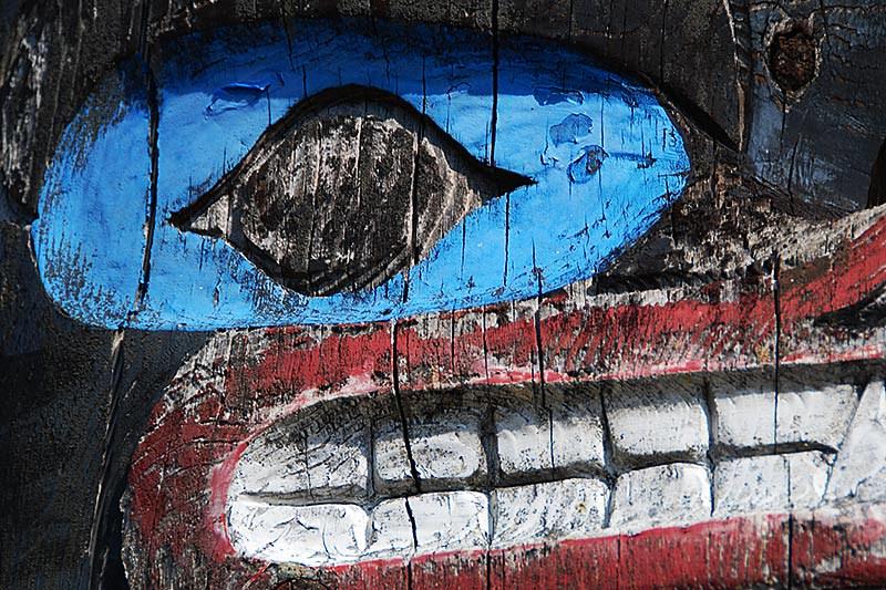 Totem Pole in Port Alberni, Alberni Valley, Vancouver Island, British Columbia