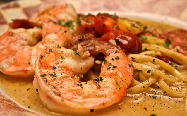 The Breakers Hotel, Palm Beach, Florida - Italian Restaurant - Shrimp Scampi