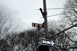 East 87th Street Sign
