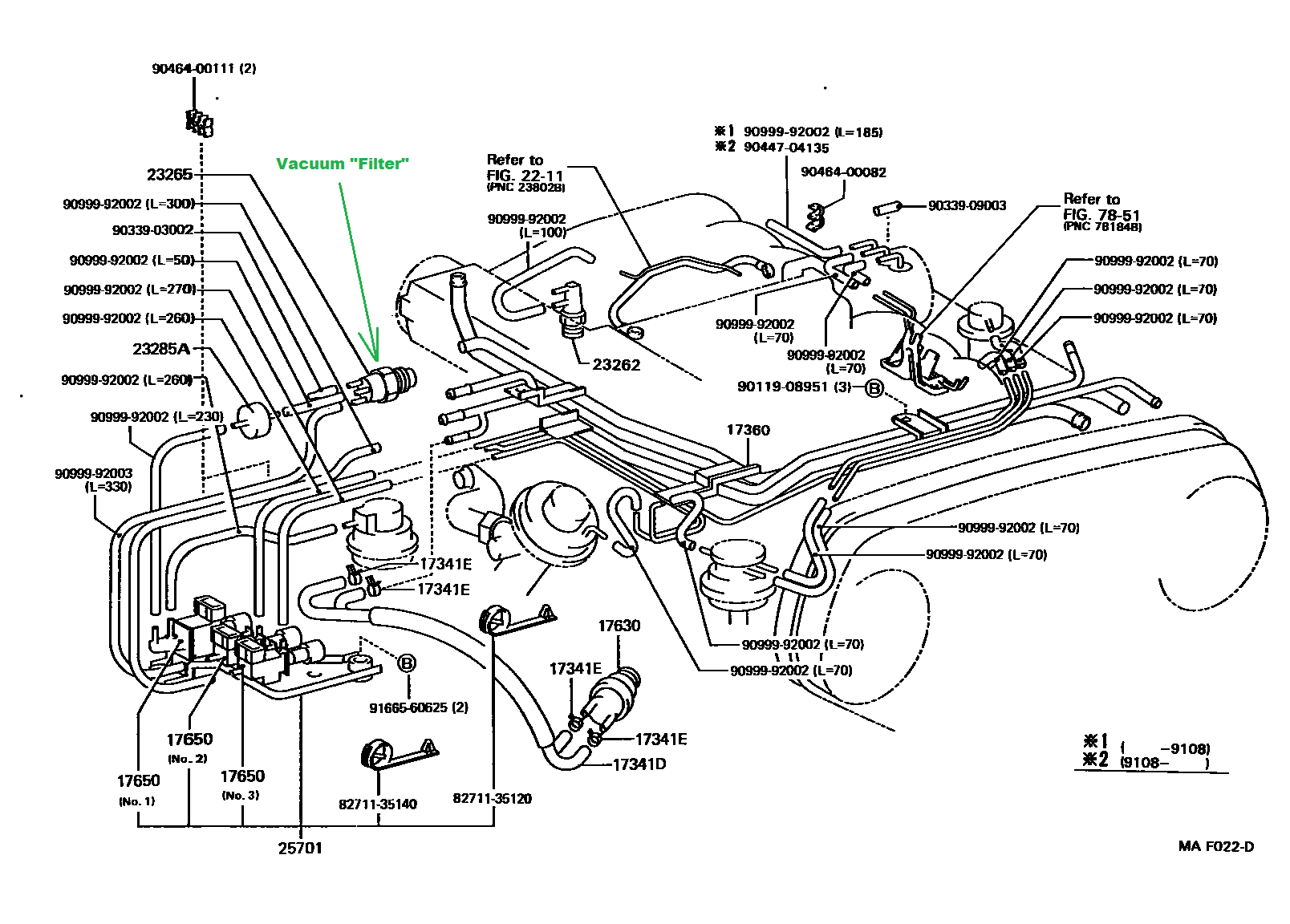 Vacuum Hoses 4wd 277190 on Ford 4 9 Vacuum Diagram