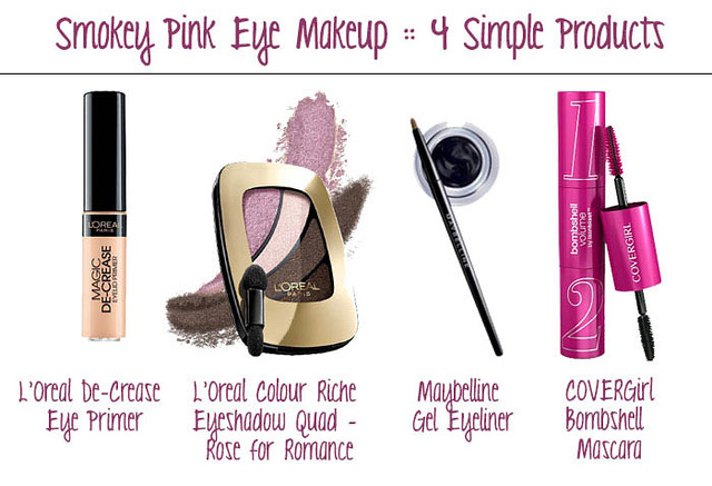 cute & little blog | valentine's day pink smokey eye makeup tutorial #walgreensbeauty #shop