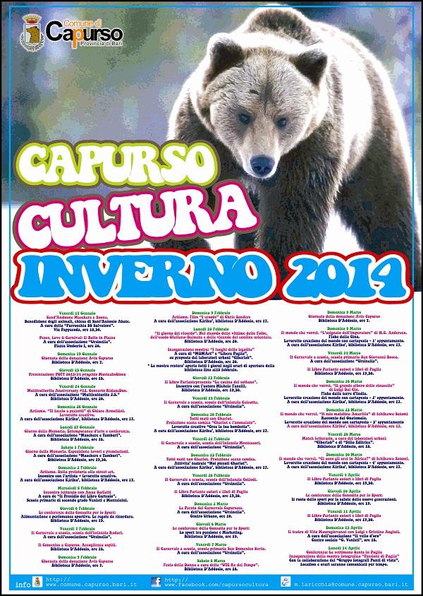 Capurso. Eventu culturali inverno 2014 intero