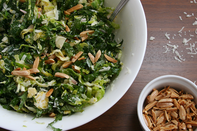 brussels sprouts kale salad 4