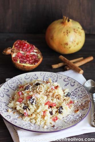 Couscous dulce con pasas y granada (1)