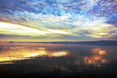 Special sunset on the Lake (Bolsena, Italy)