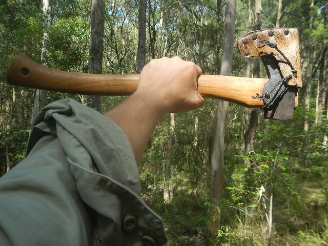 Deer fur axe mask