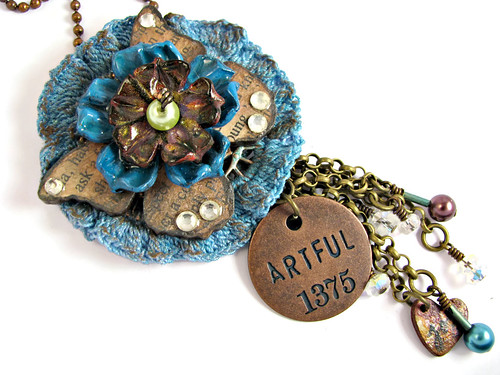 Artful Mixed Media Assemblage Necklace