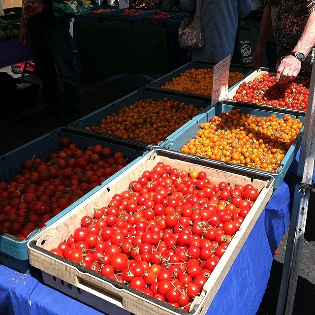#kvpinmybelly - Hello Red! Tasty cherry tomatoes at #DalyCity Farmers Market #foodspotting #vegetarian