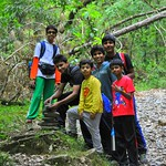 Trekking summer camp activity