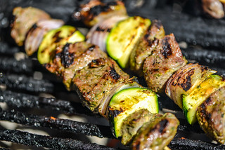 Yogurt- and Mint-Marinated Lamb Skewers
