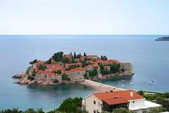 Walled island of Sveti Stefan