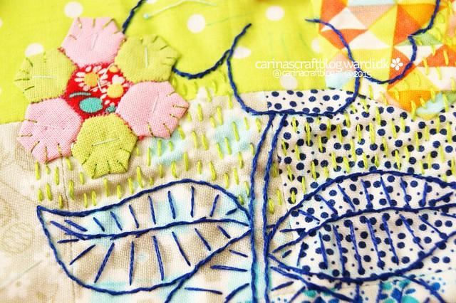 Large flower - stitch improv