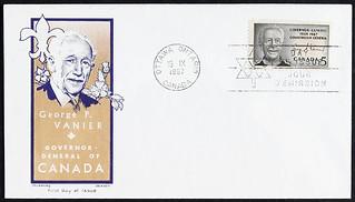 A First Day Cover with the image of Georges P. Vanier, 1967 / Un pli Premier Jour à l'effigie de Georges P. Vanier, 1967