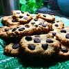Ahhhh, almond flower chocolate chip cookies. So good. #cookies #chocolatechipcookies #snack