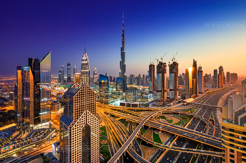 2017 uae emirates dubai travel tower panoramic architecture color city urban sunset light night skyline scape bluehour canon6d ef16354lis best iconic famous mustsee picturesque postcard longexposure collage