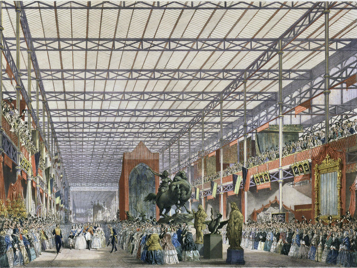 The Great Industrial Exhibition of 1851. The Foreign Nave by Joseph Nash