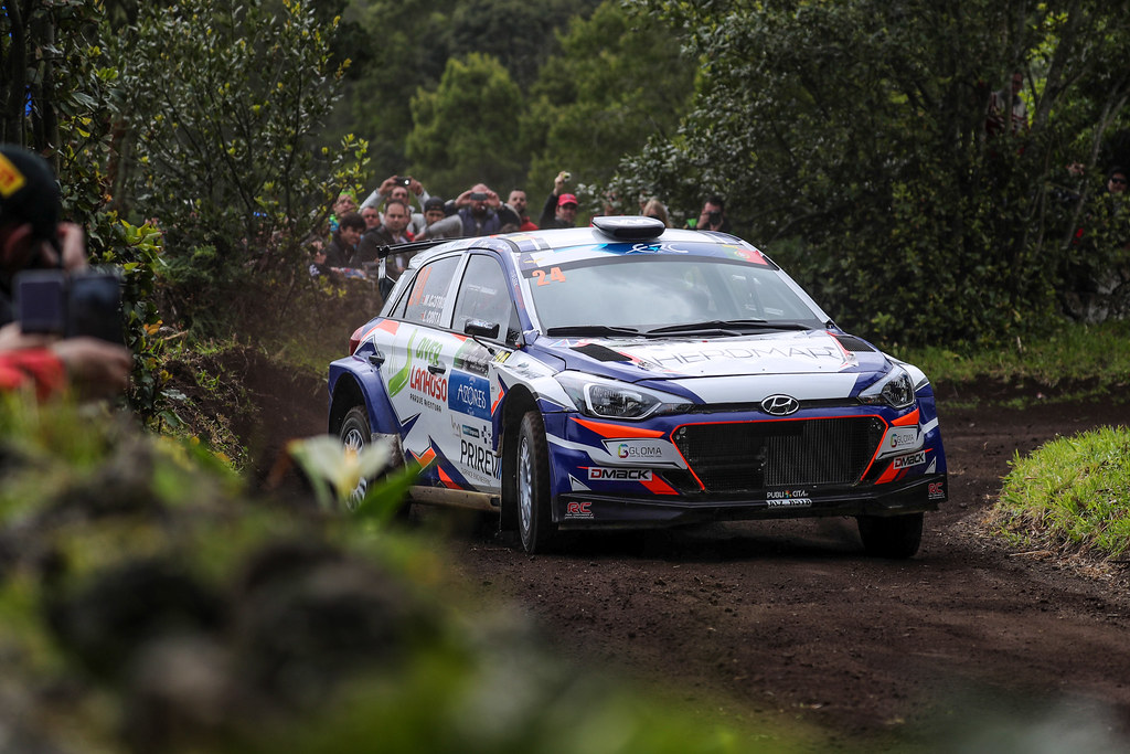 24 CASTRO Manuel  COSTA Luis  Hyundai I20 R5 Action during the 2017 European Rally Championship ERC Azores rally,  from March 30  to April 1, at Ponta Delgada Portugal - Photo Jorge Cunha / DPPI