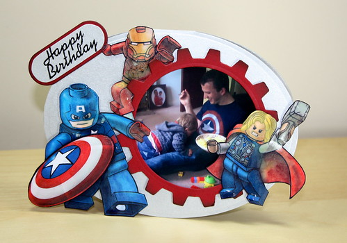Captain America Lego Card
