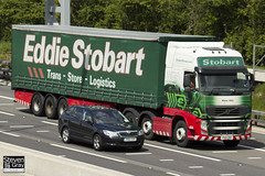 Volvo FH 6x2 Tractor - PX11 CDO - Mabel Milly - Eddie Stobart - M1 J10 Luton - Steven Gray - IMG_9888