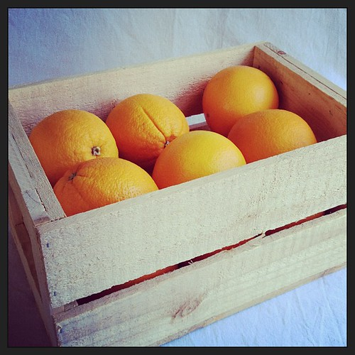 I do adore delicious mail! #GoOrange (also, love a good wooden crate #propobsession)