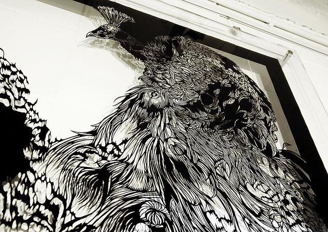 Paper-Cut-Art-peacock01-Nahoko-Kojima
