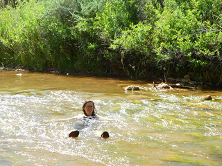 Erin Floating in the Creek