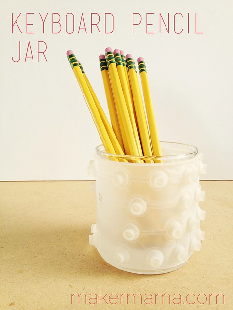 Keyboard Pencil Jar