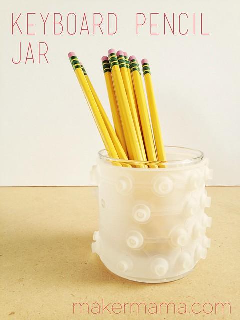 Keyboard Pencil Jar