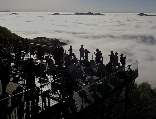 sea mountain japan clouds hokkaido terrace resort iphone tomamu unkai hoshino