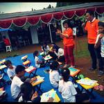 Antusias Sejumlah Anak Belajar di Olimpiade Baca