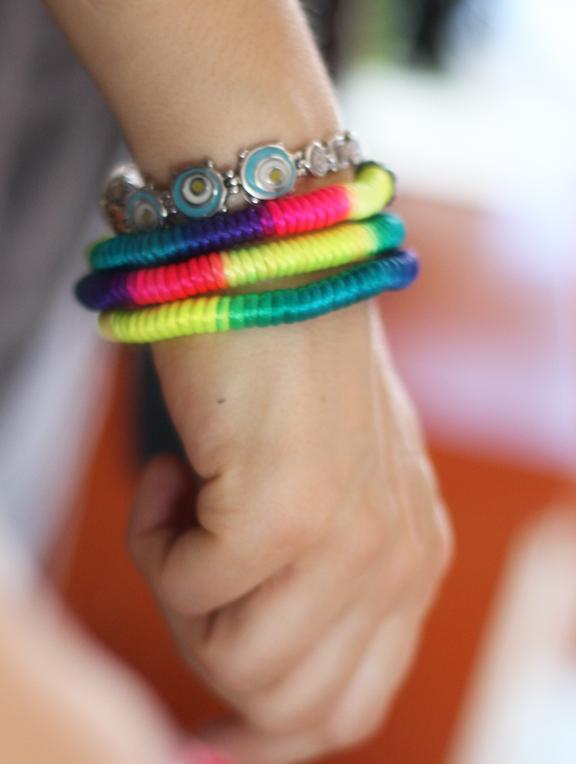neon cord bracelets
