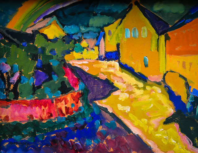 Wassily Kandinsky - Murnau - Landscape with Rainbow, 1909 ...