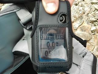 GPS at Summit of Cronin Peak