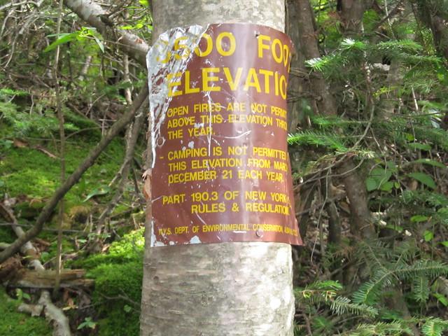 3500 foot marker