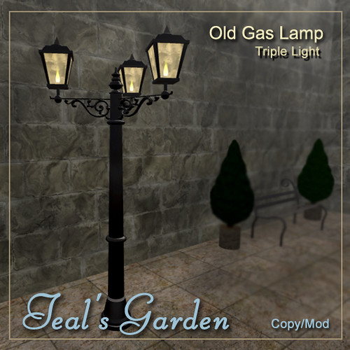 Old Gas Street Lamps by Teal Freenote