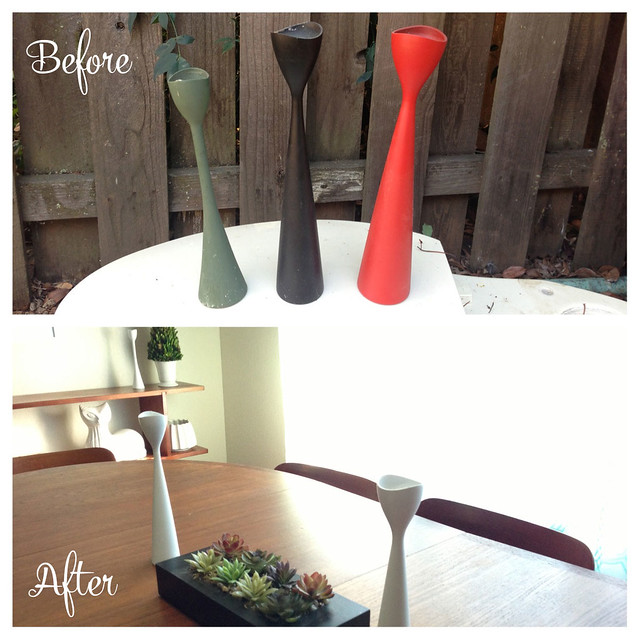 DIY Before & After Candlestick Holders #thelovelygeek