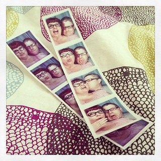 After the delicious do-sant from French Meadow we hit up the #photobooth while we were still fresh. Though the first one was blurry, the color was wonky, and the machine nearly ate the strip before spitting it out! We switched machines & tried again, this