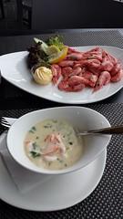 Bergen fish soup and shrimps