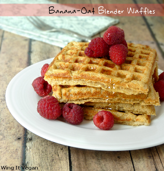 Banana-Oat Blender Waffles